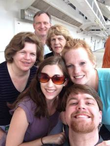 My family during a cruise a couple months after active treatment for TNBC.