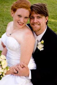 My husband Nolan and I right after we got married